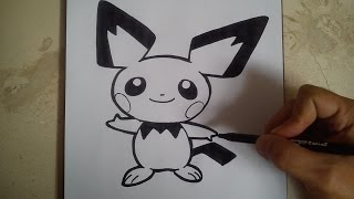 Como Dibujar A Pichu Pokemon How To Draw Pichu Pokemon Youtube