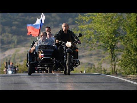 Езда Путина на мотоцикле без шлема осталась без объяснений