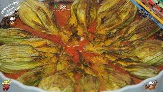 293 - Fiori di zucca ripieni al forno...e stai bene tutto il giorno (antipasto/secondo piatto light)