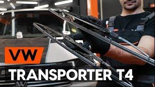 Montaje Escobillas de Limpiaparabrisas delanteras y traseras VW TRANSPORTER IV Bus (70XB, 70XC, 7DB, 7DW): vídeo gratis