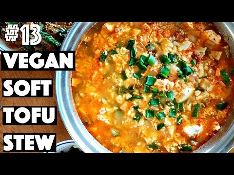 VEGAN SOFT TOFU STEW (Korean Recipe) | #13 (30 Videos in 30 Days) ♥ Cheap Lazy Vegan