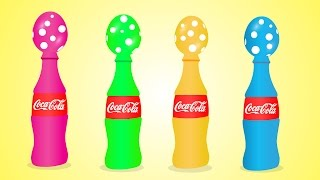 Teach Kids Colors With Surprise Eggs - Colors For Children To Learn With Easter Eggs Coca Cola