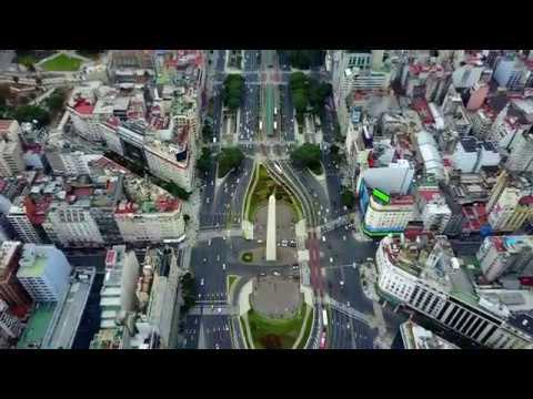 Estadio Monumental, Obelisco y Puerto Madero. Buenos Aires, Argentina | Drone HD
