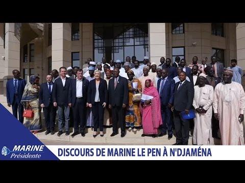 Discours de Marine Le Pen à N'Djaména (23/03/2017)  Marine 2017