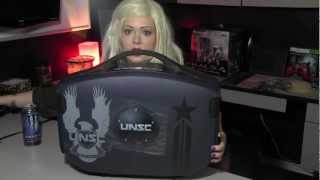 "GAEMS Halo UNSC Vanguard Personal Gaming Environment 19"" Unboxing Review"