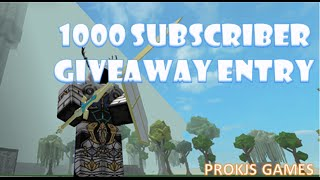 Roblox - 1000 Subscribers Giveaway Entry!!! (CLOSED)