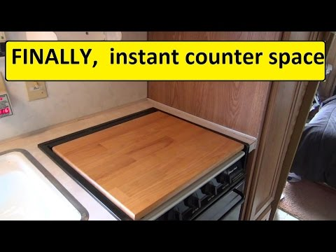 More Rv Counter Space Camco 43521 Stove Top Youtube