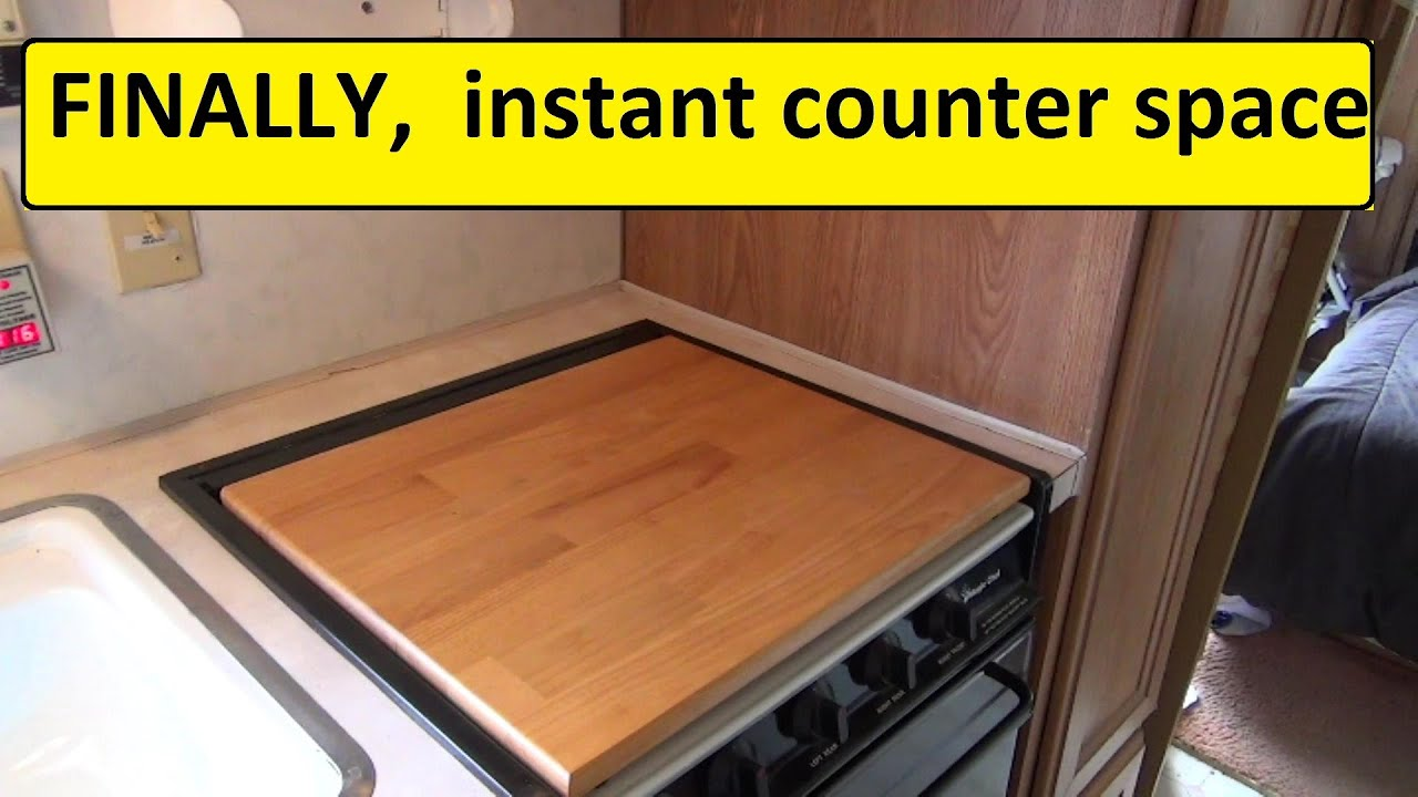 More RV Counter Space Camco 43521 Stove Top
