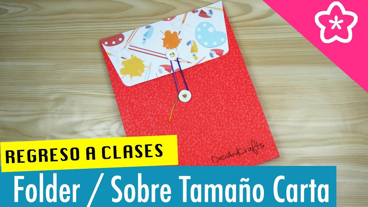 Sobre folder tama o carta regreso a clases - Como decorar un sobre ...