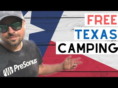 7 Free Camping In Texas Spots You'll Love 💕