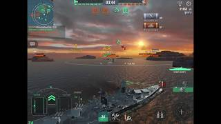 World of Warships Blitz- Tier 10 Montana Gameplay