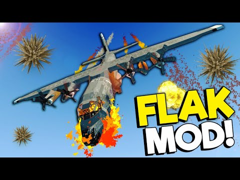 We Attempted to Survive EXPLOSIVE Flak in an AC-130 Plane! (Stormworks Multiplayer)  