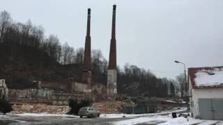 Wyburzanie komina w Szalejowie Dolnym
