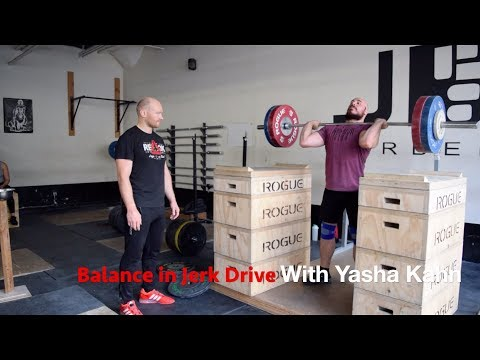 HOW TO USE JERK DRIVES TO FIX YOUR SPLIT-JERK WITH YASHA KAHN | JUST A MOMENT WITH COACH