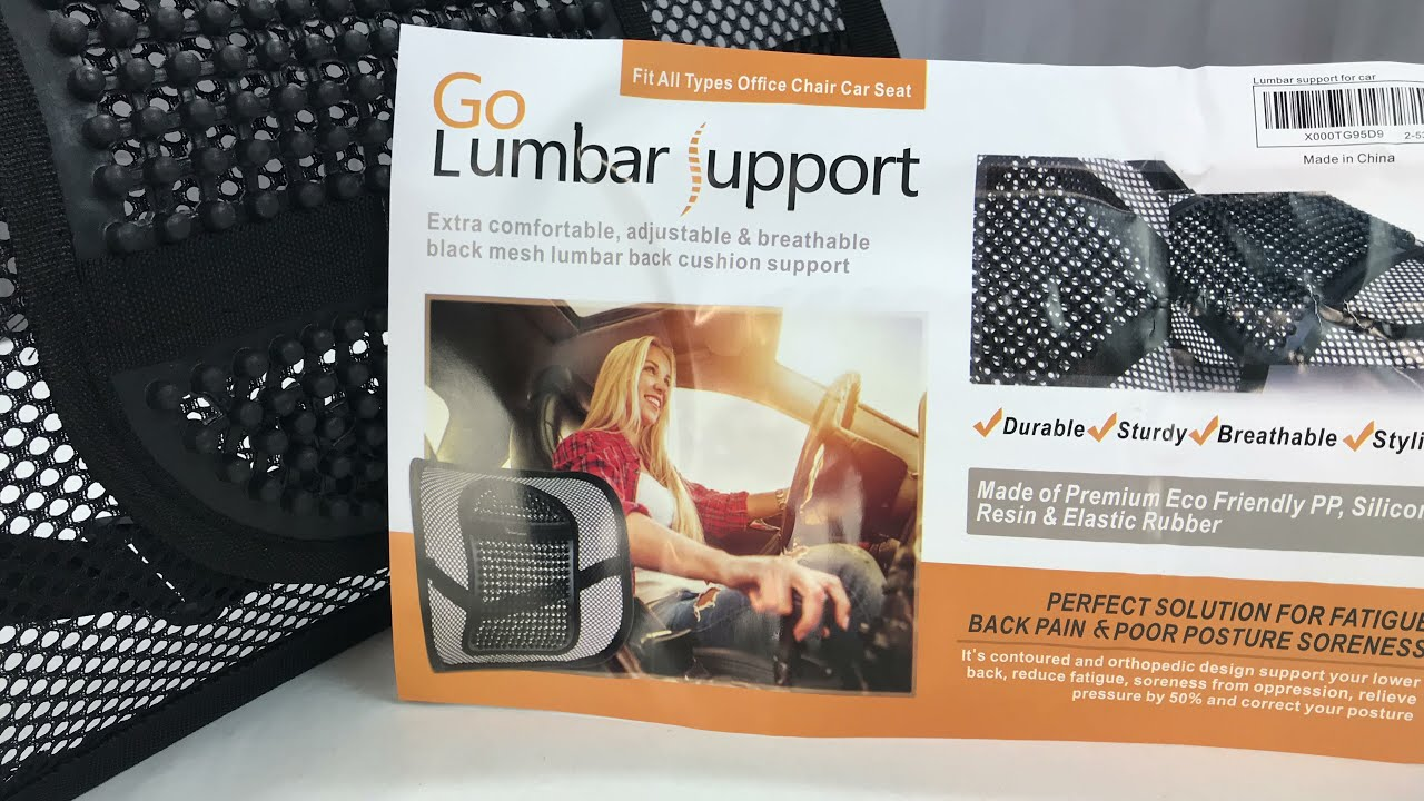 Office Chair Black Mesh Lumbar Back Cushion By Go Lumbar Support Review