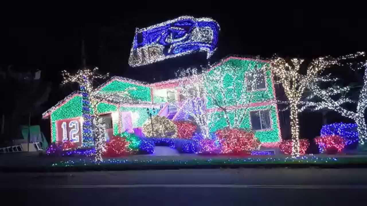 Seahawks Christmas Lights.Seahawks Christmas Lights 2015