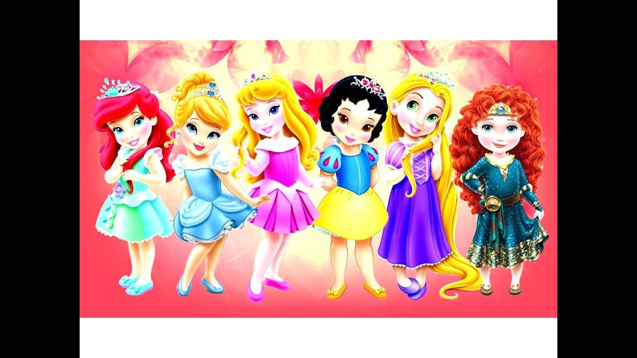 How to Draw Baby Disney Princesses Kids Coloring Page ...
