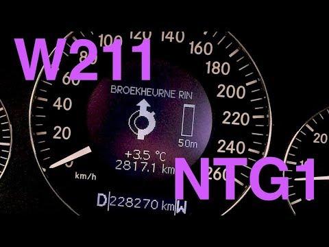Mercedes W211 NTG1 ECE Command Serviceupdate W211 589132200