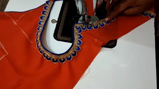 Boat and Hart neck Designs Blouse Cutting and Stitching !! Hart Neck Designs Blouse At Home
