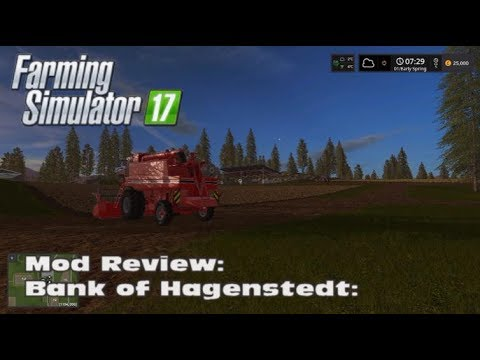 Farming Simulator 17 - Mod Bank of Hagenstedt - 10 Million loan and buying/selling/leasing fields!