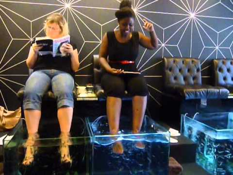My embarrassing fish pedicure youtube for Fish spa near me