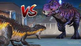 Индоратор против Тираннозавра Омега 09 Jurassic World The Game