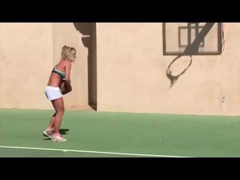 Britney Spears sorprendió a sus fans con su talentos ocultos para jugar al básquet