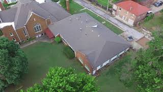 Free Use Drone Footage | St Jerome church downtown | B-Roll church downtown Tulsa (5)