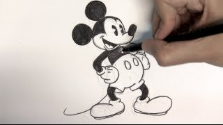 How to draw Mickey Mouse step by step - Things to Draw
