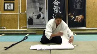 How to fold your keikogi /gi összehajtása [TUTORIAL] Aikido dojo etiquette