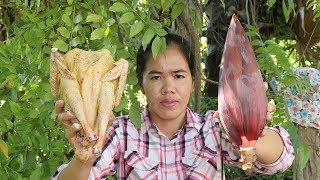 Awesome Cooking Chicken Soup With Banana Flower Recipe - Show Eating Soup Delicious  - Cooking Skill
