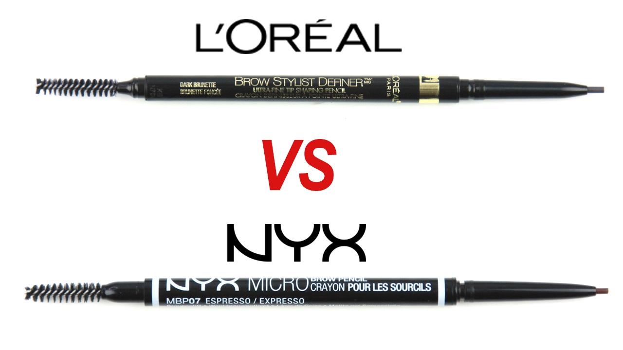 03db3039cdd NYX Micro Brow VS Loreal Brow Stylist Definer - YouTube
