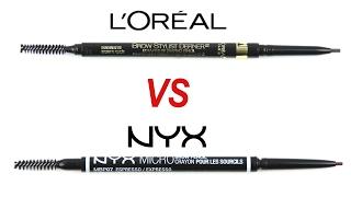 NYX Micro Brow VS Loreal Brow Stylist Definer