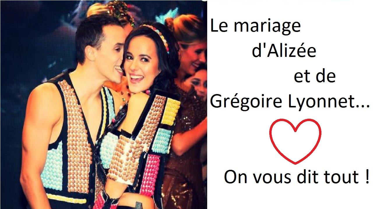 tous les dtails sur le mariage dalize et grgoire lyonnet youtube - Mariage Alizee