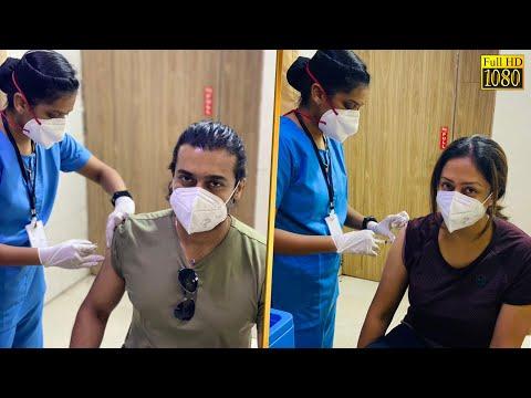 மனைவியுடன் ஒன்றாக வந்து Corona தடுப்பூசியை செலுத்தி கொண்ட சூர்யா! | Suriya, Jyothika | Cinema News