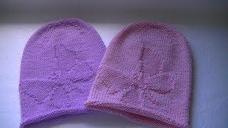 Вязание шапки бини  с узором