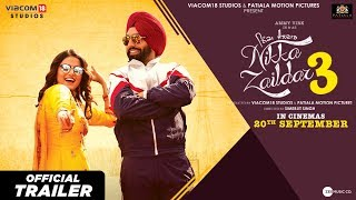 Nikka Zaildar 3 l Official Trailer l 20th September l Ammy Virk l Wamiqa Gabbi l Simerjit Singh