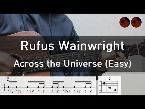 기타강좌 #48 Rufus Wainwright  Across the universe Easy 기타코드,커버,타브악보