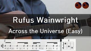 기타강좌 48 Rufus Wainwright Across The Universe Easy 기타코드 커버 타브악보
