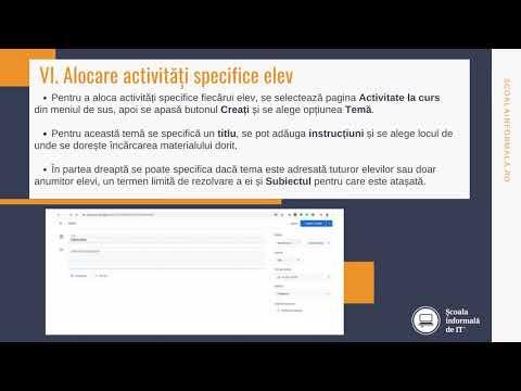 video despre activitatea binarului