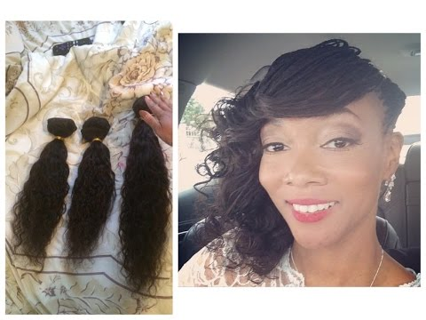 Cutting Virgin Hair Off Track And Use To Install As Micro Braids