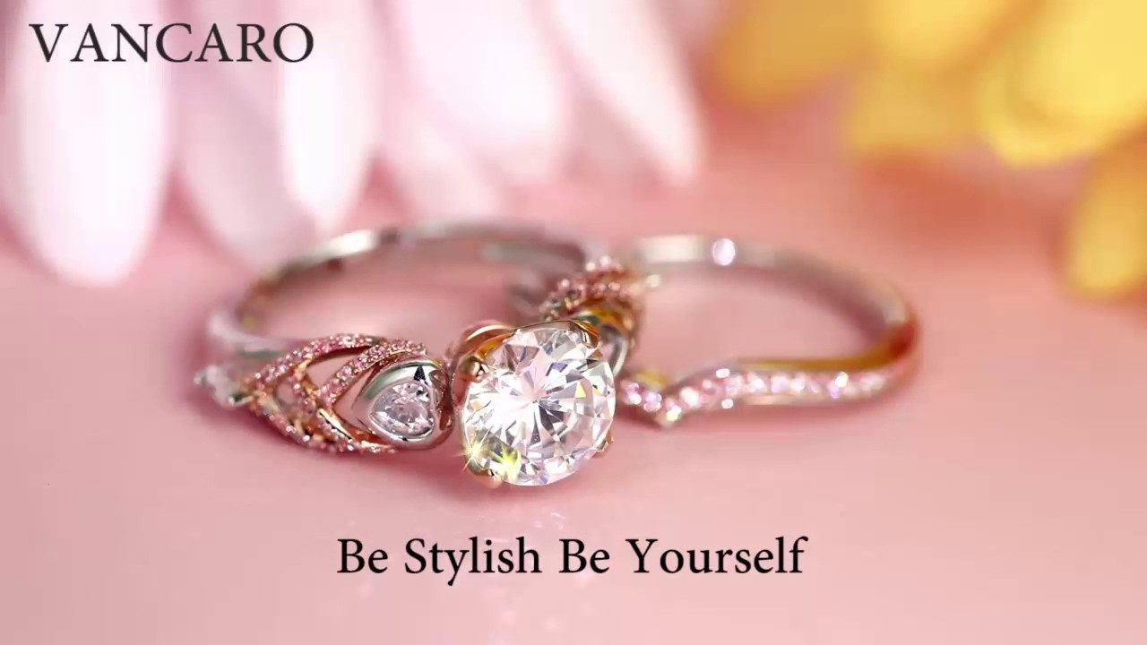 VANCARO Classical Engagement Ring Collection for Women - YouTube