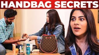 Nikki Tamboli's Handbag Secrets Revealed by Vj Venkat|What's inside the Handbag