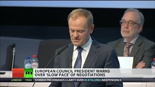 Tusk warns of slow Brexit negotiations