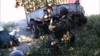 Плотный уличный бой под Донецком (Иловайск)