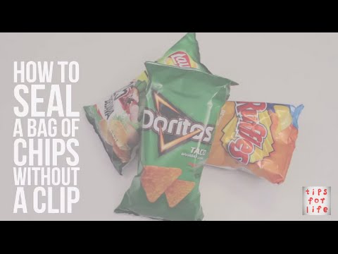 How to seal a bag of chips without a clip I DIY