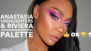 OVERY HYPED?? ANASTASIA RIVIERA PALETTE & LOOSE HIGHLIGHT COL| SONJDRADELUXE