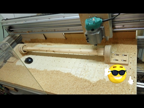 very easy CNC(Crazy Numerical Control) build part12-1 woodturning
