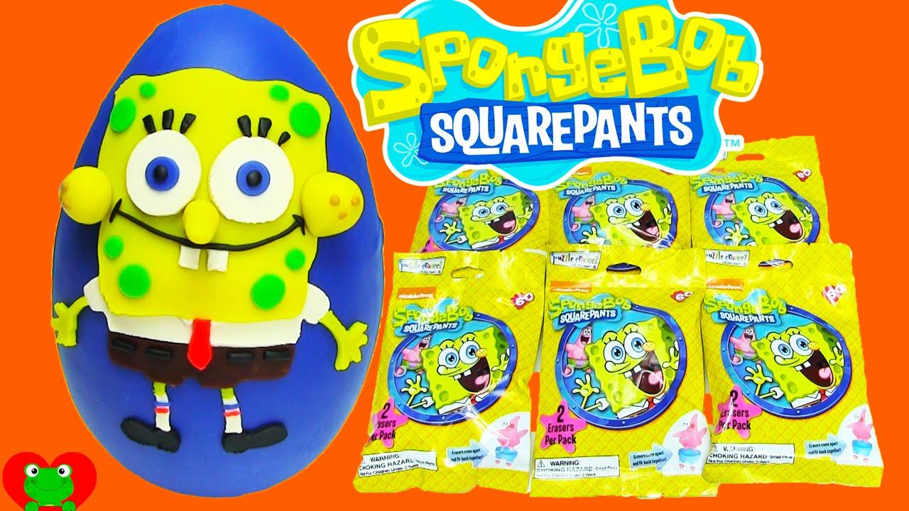 SpongeBob Puzzle Eraseez Puzzle Erasers - YouTube