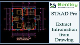 STAAD Pro Tutorial For Beginners [Episode 11]: Reading The Architectural Drawing